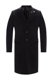 Wool coat with notch lapels