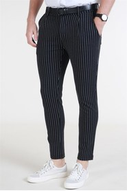 Jack & Jones Tanner Tröja Pants Black White Pinstripe