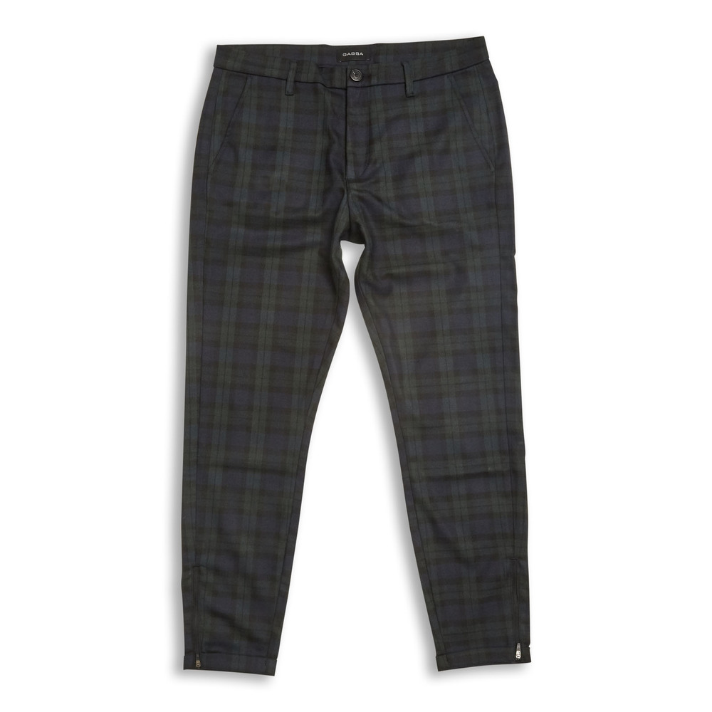 Pisa Chino Check Navy Green