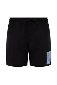 Logo-patched swim shorts