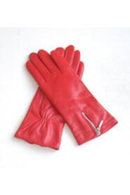 Kvinder Glove Lambskin lynlås rød