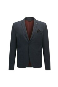Slim fit jacket in brushed melange fabric