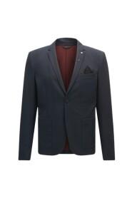 Slim fit jacket in brushed melange fabric