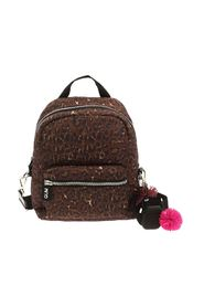 CAMERA BAG ANIMAL PRINT BACKPACK WITH CHARM