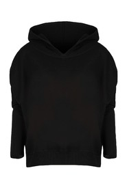 Classic oversize sweatshirt with hood and V-neck Eden