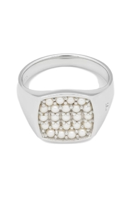 Mini Cushion Pearl Ring