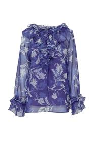Blouse In Chiffon With Rouches
