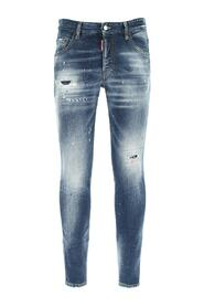 Distressed Washed-Out Jeans