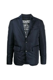 Notched collar padded jacket