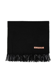 Wool scarf with logo