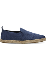 Navy Wash Canvas / Rope Toms Deconstructed Alpargata