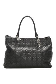Lady Dior Lambskin Leather Tote Bag Leather