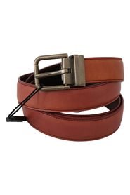 Leather Metal Gray Buckle Belt