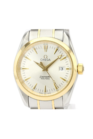Pre-owned Seamaster Quartz Stainless Steel Gold (18K) Men's Sports Watch 2318.30