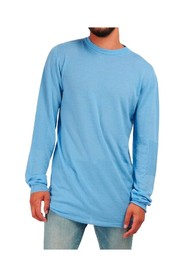 Pull col rond manches biker