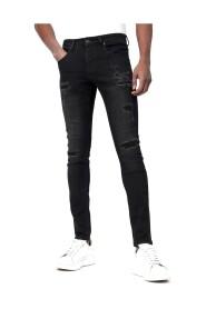Skinny Jeans met Scheuren D-3132