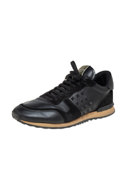 pre-owned Leather And Suede Rockrunner Sneakers