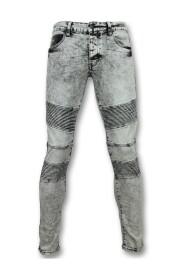 skinny jeans heren - Grijze jeans mannen - 800-11