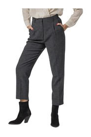STRAIGHT-LEG PANTS IN VISCOSE WOOL