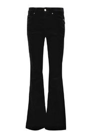 Cambio - Parla Flared Velur Pants Luxury Svart 7139 0047-09
