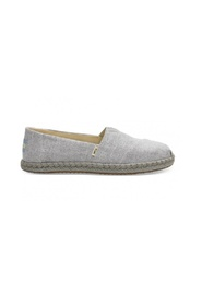TOMS CLASSIC DRIZZLE GREY SLUB CHAMBRAY ON ROPE