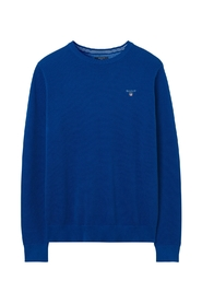 Gant gerade Pullover, Baumwolle Piqué-Crew