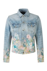 Denim Jacket Flowers