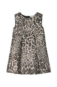 Dress leopard patterned jacquard