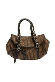 Pre-owned Coated Canvas and Leather Flap Romantique Satchel