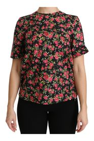 Roses Short Sleeve Top Blouse