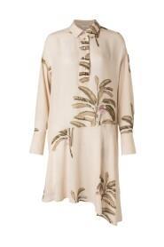 Slanted Floral Dress