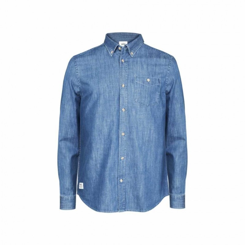 OKE L/S SHIRT RELAXED FIT DEEP SEA