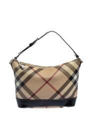 Pre-owned Nova Check Coated Canvas and Leather Baguette Shoulder Bag