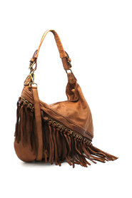 Leather Ring Fringe Veske