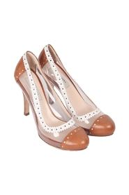 Transparent Vinyl CAP TOE PUMPS Shoes HEELS