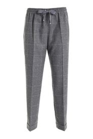 FLANNEL COULISSE TROUSERS