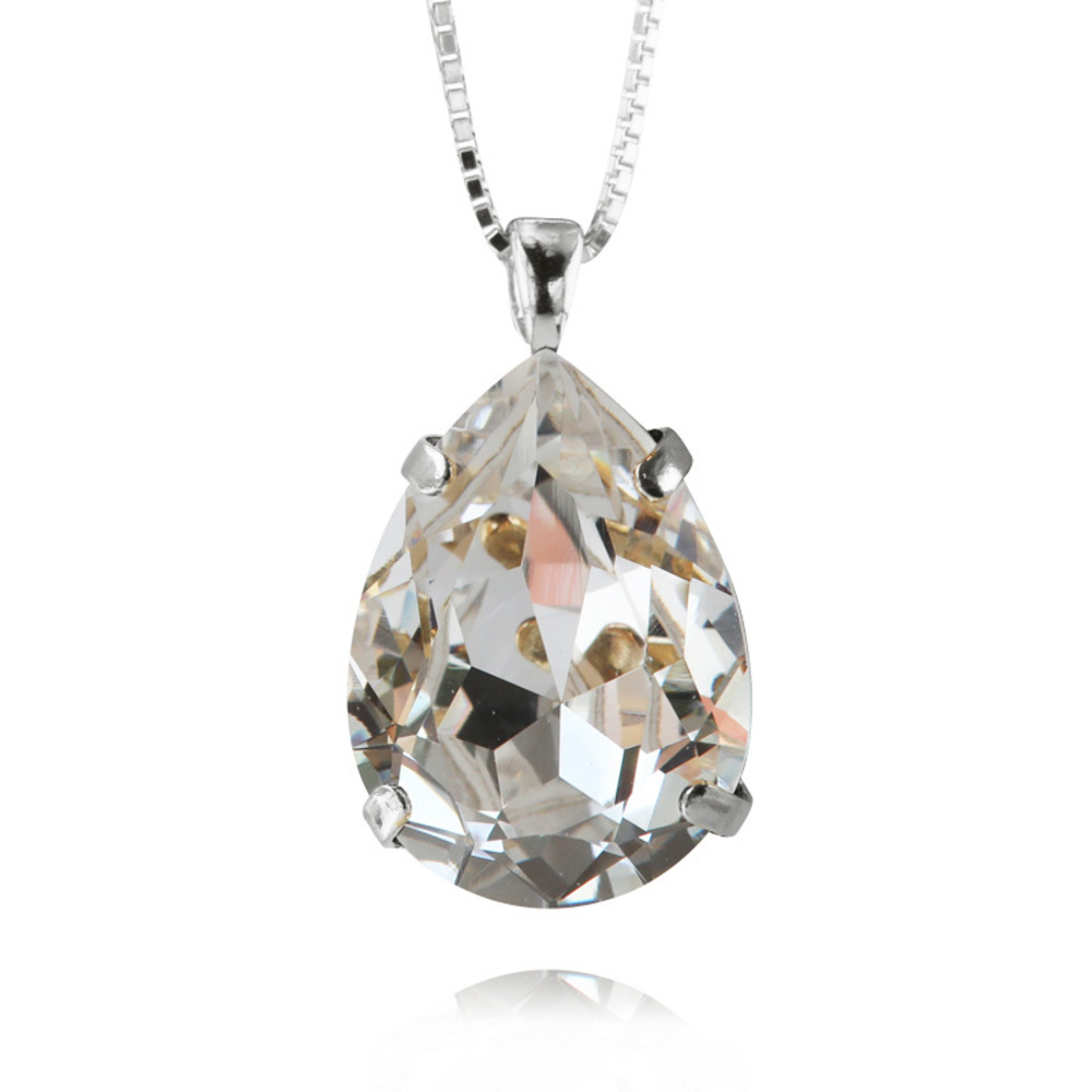 Caroline Svedbom Classic Drop Necklace crystal