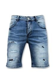 Korte Broek - Gescheurde Jeans Short - 9086