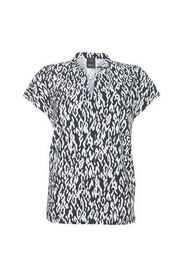 Zwart/wit geprinte dames top Penn & Ink - W19N571D