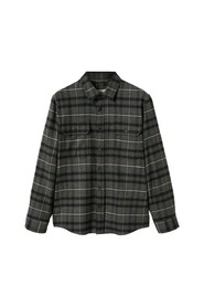 Checked flannel overshirt
