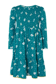 Daisy Print Shirred Daywear Dresses