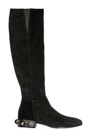 women's suede heel boots napoli