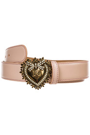 Leather belt  cuore devotion