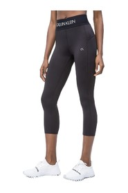 CK PERFORMANCE 00GWS9L745 CROPPED TIGHT LEGGINGS LONGWEAR Women BLACK