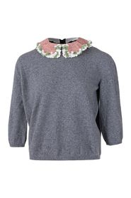 Sweater with Embellished Collar