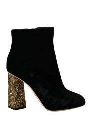Velvet Crystal Square Shoes