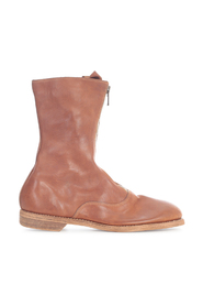 FRONT ZIP ARMY BOOTS SOLE LEATHER
