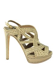 Caged Studded Heels