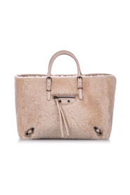 Shearling Papier A6 Fur Satchel Natural Material Fur