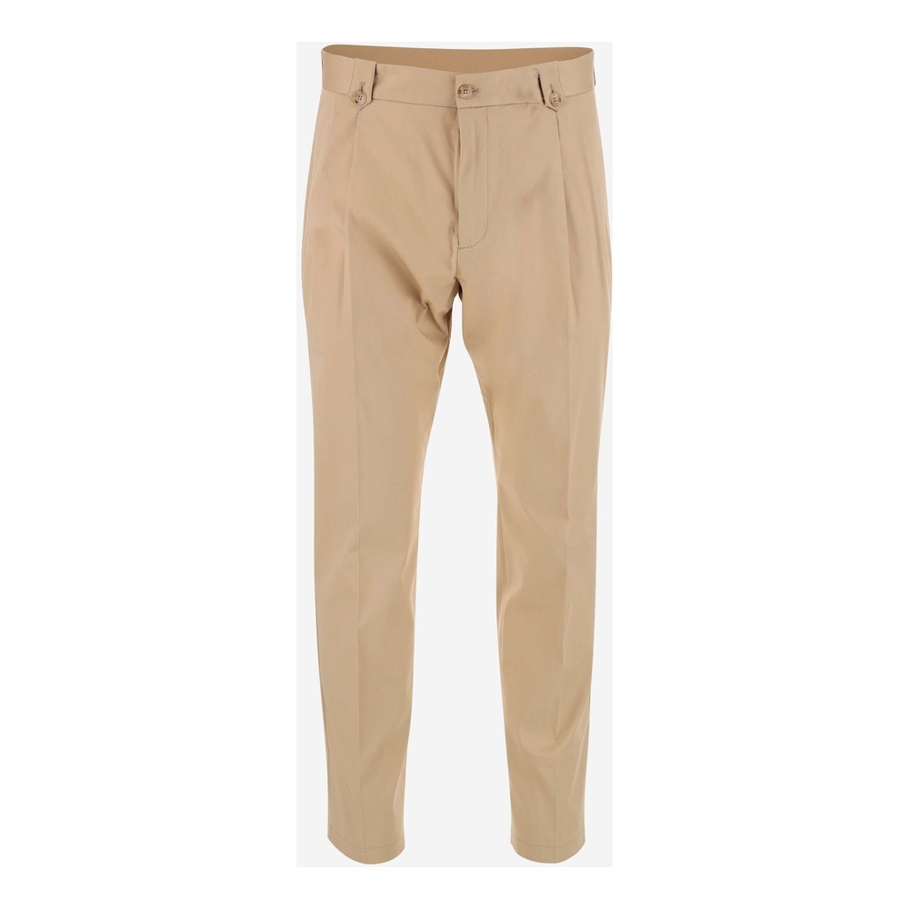 Beige Chino trousers made of stretch cotton | Dolce  Gabbana | Chinos | Herenkleding